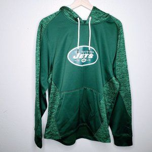 Majestic NY Jets Thermabase Men's Green Hoodie - M